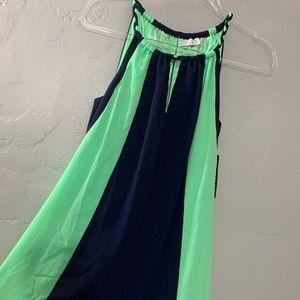NY&C Maxi Dress w/braided straps and belt NWT